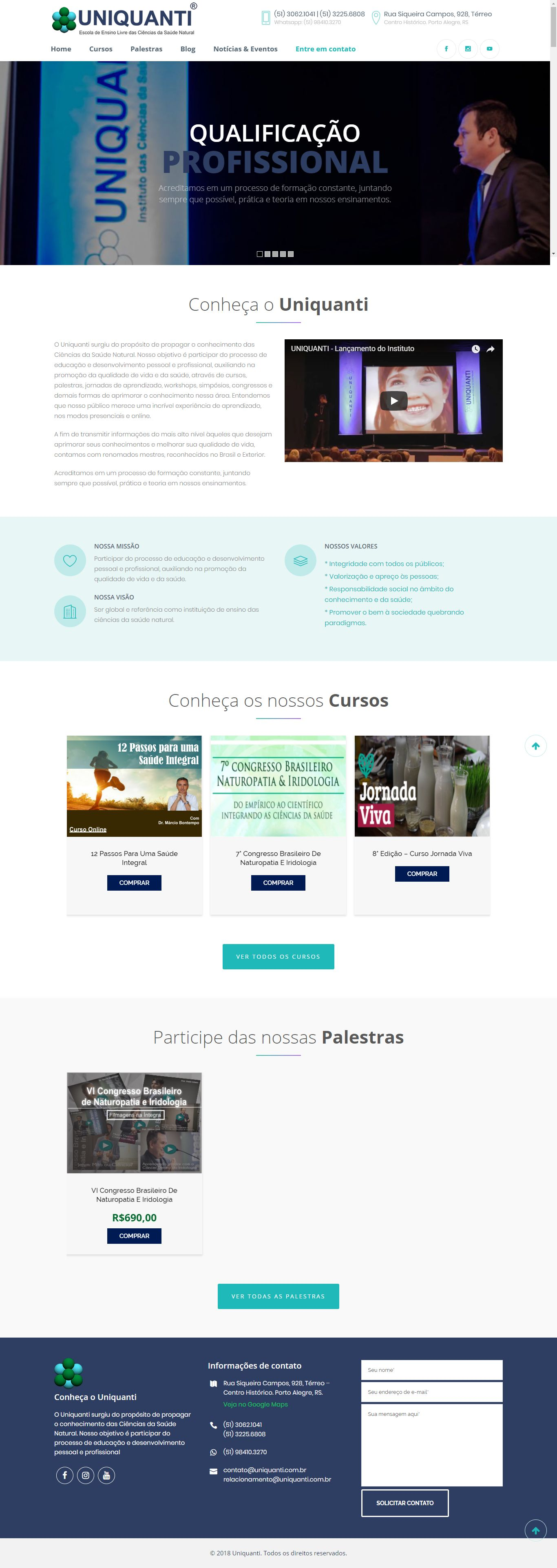 Criação de Sites Wordpress - Uniquanti